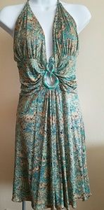 Turquoise/green halter dress by SKY